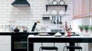 Белая плитка на кухне (37 фото) особенности черно-белой и красно-белой плитки под кирпич в интерьере