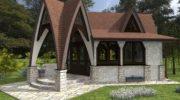 Беседка из кирпича (70 фото) закрытая кирпичная конструкция с мангалом на даче — просто и красиво, д