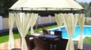 Беседка-шатер (46 фото) дачная тентовая легкая беседка 3×3, садовые палатки, павильоны и тенты, шатё