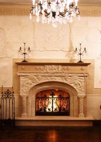 Гостиная с камином в стиле прованс (33 фото) как украсить портал печи на даче, как обустроить деревя