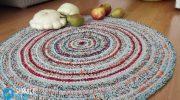 Вязание крючком ковриков для пола 🥝 из тряпок, как сделать лоскутные ковры, мастер класс, фото
