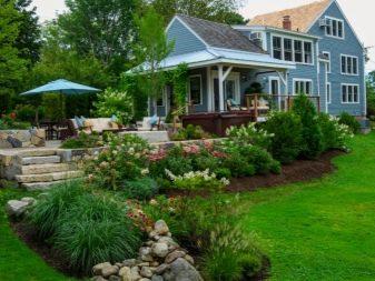 Дизайн небольшого двора частного дома