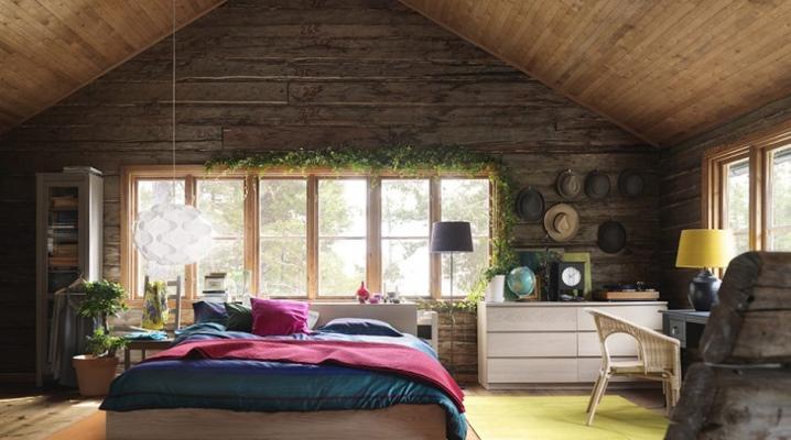 Спальня в деревянном доме 70 фото дизайн интерьера в бревенчатой даче из бруса