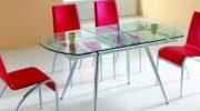 Стеклянные столы для кухни (50 фото) столы со столешницей из стекла с фотопечатью, черного и белого