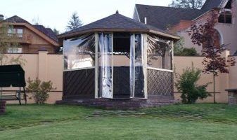 Мягкие окна для беседки (33 фото) прозрачные шторы для окон из ПВХ, гибкие стекла своими руками, пле