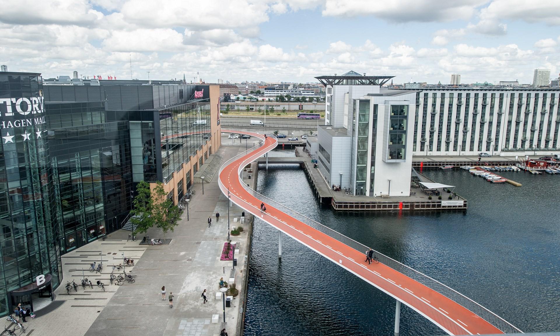 Мост для велосипедистов, Копенгаген, Дания