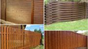 Установка деревянных заборов: красивые и надёжные